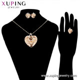 61264 최신 Sale 18K Gold Plated Colorful Tie Design Jewelry Set