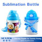 bouteille d'eau en plastique de gosses d'enfants de blanc d'impression de la sublimation 400ml