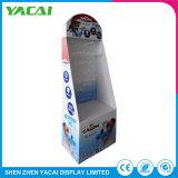 Gefalteter Sicherheits-Papier-Fußboden-Pappausstellungsstand für Speicher