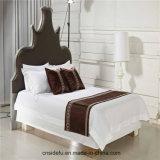 最高のホテルの綿の平野のサテンのシーツ