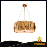 Estilo Murano moderna decoração Dourada Luz Pendente (GD18128P-D600)