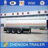 3 판매를 위한 반 차축 42cbm 연료 탱크 유조선 트레일러