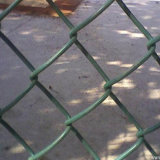よい電流を通されたPVC上塗を施してあるドアチェーンリンク網の塀