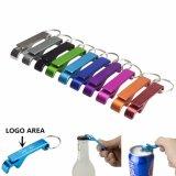 Bierflasche-Öffner Keychain, personifiziertes Firmenzeichen 4 in 1 Pocket, Aluminiumfarben des bierflasche-Öffner-11 für Hochzeits-Bevorzugungs-Geschenke