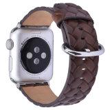 Tecidos de couro genuíno de padrão de cinta de relógio para Apple Iwatch 38mm pulseiras banda