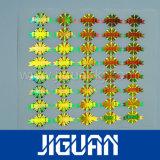 Collant fait sur commande de joint d'hologramme de feuille d'impression de logo