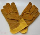 10.5 '' перчаток заварки короткой теплостойкfGs работы кожи защитных работая