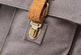 レトロメンズ革およびキャンバスのメッセンジャーのラップトップ袋の肩のブリーフケース