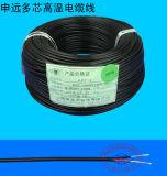 El teflón aislado de los cables eléctricos y cables