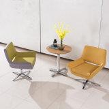 Formteil-Schaumgummi-Gewebe-Typ Freizeit-Stuhl mit Swive Unterseite