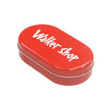Rouge de l'étain métal verres d'emballage imprimé Case