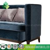 Estilo europeo, sofá de felpa azul Royal Sofá para Salón