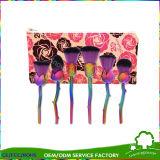 6PCS per de Vastgestelde Make-up van de Meermin nam de Borstel de Borstel van de Meermin van de Kleur van de Regenboog met toe