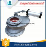 Válvula giratoria metálica neumática