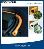Tubo di gomma a temperatura elevata della gomma piuma dell'isolamento del tubo del condizionamento d'aria di Coolsour