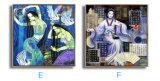 Heiße verkaufende klassische Portrait-Frauen, die Wand-Kunst-Segeltuch-Farbanstrich-Abbildung tanzen