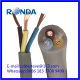 Sqmm elétrico flexível do cabo de fio 3X2.5 de H05VV