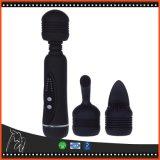 Erotisch Silicone 12 Lichaam Massager van het Speelgoed van het Geslacht van het Toverstokje van de Vibrator van de Snelheid het Krachtige omvat 3 Producten van het Geslacht van Kappen Volwassen voor Vrouwen