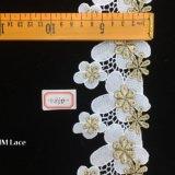 7cm dentelle florale des tulipes en situation irrégulière de fraisage pour vêtement à manches longues hme860