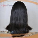 Peluca superior de seda del pelo brasileño de la Virgen (PPG-l-01547)