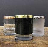 En Stock portavelas de vidrio negro con tapas