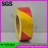 Somi 테이프 Sh508 트럭을%s 강한 접착성 빨갛 노란 높은 Intension 대조 테이프