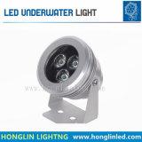Blanco cálido, RGB, 6W, 24V LED Lámpara de bajo el agua fuente