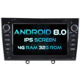 Huit Witson Core Android 8.0 voiture DVD pour Peugeot 408 2010-2011 1080P 4G ROM écran tactile 32 Go ROM écran IPS