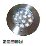 12X3w indicatore luminoso subacqueo della piscina dell'acciaio inossidabile IP68 LED
