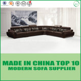 L morbida base di sofà di cuoio modulare stabilita della mobilia di figura