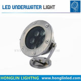 Warmes Weiß, RGB, 6W, 24V LED Brunnen-Unterwasserlampe
