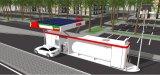 Bewegliche Kraftstoff-Station mit Sonnenenergie und Management-System