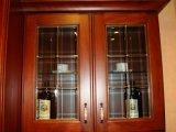競争の品質の純木のカシの食器棚(W-0011)