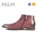 Los hombres de la fábrica OEM Bota de cuero Zapatos de Vestir populares