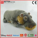 Brinquedo macio realístico do luxuoso do hipopótamo do animal enchido do presente da promoção de ASTM