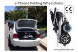 FDA sillón de ruedas eléctrico sin cepillo del negro de 12 pulgadas con la batería LiFePO4