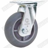 Rodízio resistente de TPR com o freio lateral (cinzento) (G4307D)