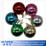Sublimação de bola de Natal em branco do ornamento de plástico em cerâmica