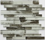 Mattonelle di mosaico di vetro di Backsplash di vendita del getto di inchiostro della decorazione di legno calda di sguardo