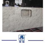 台所または浴室のカウンタートップまたは虚栄心の上およびフロアーリングまたはタイルの壁のタイルまたはホテルまたは建築材料のための磨かれた川の白い花こう岩