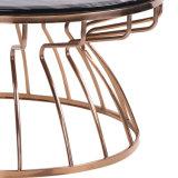China Fabricante durável com mesa de jantar em mármore com estrutura metálica