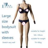 F Bodysuit van de Vagina van de Domoren van het Silicone van de Kop Stevige voor Crossdresser met Valse Pussy van de Borstplaat van het Stootkussen van Kokers en van de Billen van de Vorm van de Borst