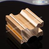/De Aluminio Perfiles de aluminio para armario con puertas de aluminio anodizado color oro
