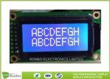 8*2文字LCDモジュールのStn青いNagetiveモノクロLCDのパネル