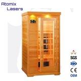 Sauna infrarossa di nuovo disegno e stanza unita vapore, STAZIONE TERMALE portatile della stanza di sauna della famiglia di Infrared lontano della stanza di sauna