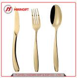 Королевский Нож из нержавеющей стали с золотым покрытием ложки вилки ресторане свадьбу ужин Набор столовых приборов