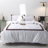 Tamanho Queen Luxo 100% algodão Beddings cor sólida Home Produtos Têxteis