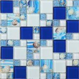 Shell de color azul piscina Mosic mosaico para suelo y pared