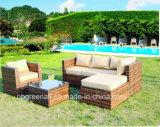 5 pedaço acolchoado, pátio com jardim pe as medulas sofá em vime Mobiliário de exterior transversal definido