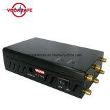 Emittente di disturbo tenuta in mano di VHF Lojack di frequenza ultraelevata dell'emittente di disturbo di potere dell'uscita dell'emittente di disturbo 3watts di WiFi dell'emittente di disturbo di GPS del cellulare e del segnale di GPS WiFi del telefono delle cellule delle sei antenne